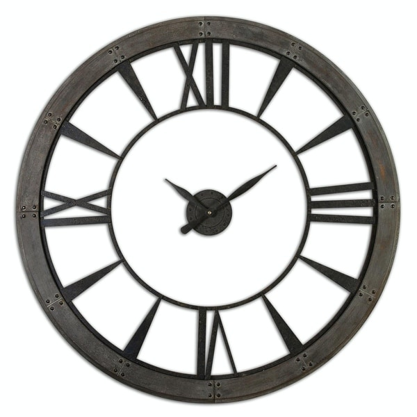 Shop 60 Oversized Acossi Dark Bronze Finish Roman Numeral Wall