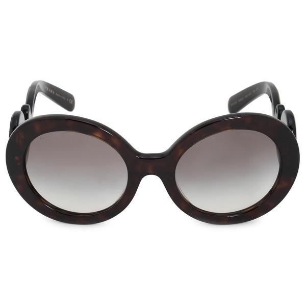 b5074c18a9 Shop Prada Minimal Baroque Round Sunglasses PR08TS 2AU0A7 55 - On ...