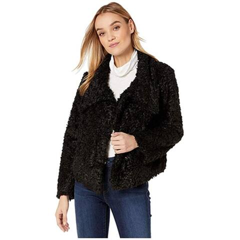 Bishop + Young Cropped Faux Fur Jacket, Black, Medium