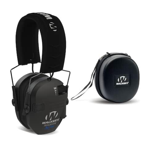 Walker's Razor X-TRM Digital Ear Protectors (Black) with Case