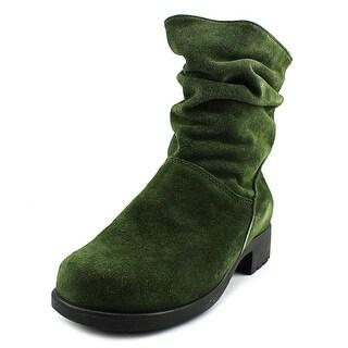 Martino Chantelle Women W Round Toe Leather Green Mid Calf Boot