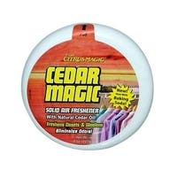 Cedar Magic Solid Air Freshener - Case of 6 - 8 oz