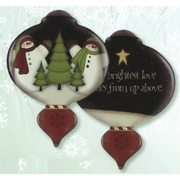 "5"" Ne'Qwa ""The Brightest Love"" Hand-Painted Glass Christmas Ornament #7141104 - multi"