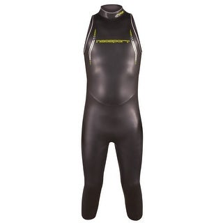 NeoSport Triathlon 5/3mm Men's NRG Sleeveless Wetsuit - Black/Lime