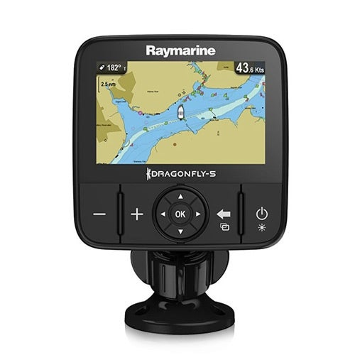 Raymarine Dragonfly 5M GPS E70295-US with U.S. Lakes, Rivers & Coastal Maps