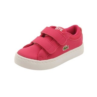 Lacoste Infant Straightset Lace 316 Sneakers in Dark Pink