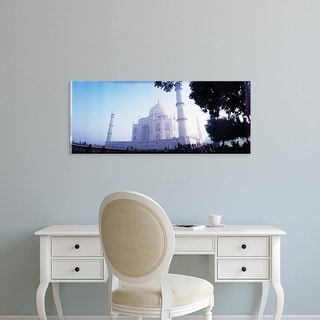 Easy Art Prints Panoramic Images's 'Low angle view of a mausoleum, Taj Mahal, Agra, Uttar Pradesh, India' Canvas Art