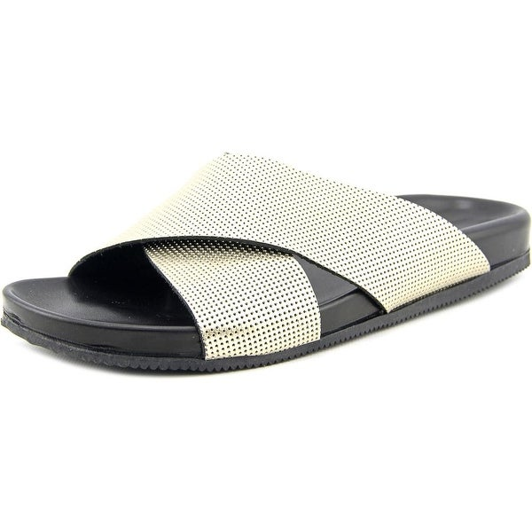 Emozioni W1462 Women Open Toe Leather Slides Sandal