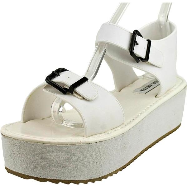 Steve Madden Moonwlk Women Open Toe Synthetic White Platform Sandal