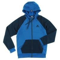 Adidas Mens Everyday Full Zip Hoodie Blue - Blue/Navy Blue