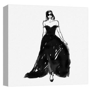 "PTM Images 9-124728  PTM Canvas Collection 12"" x 12"" - ""Elegant Dress"" Giclee Women Art Print on Canvas"
