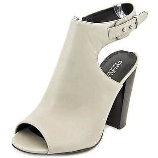 Charles By Charles David Garcia Women Open-Toe Leather Slingback Heel