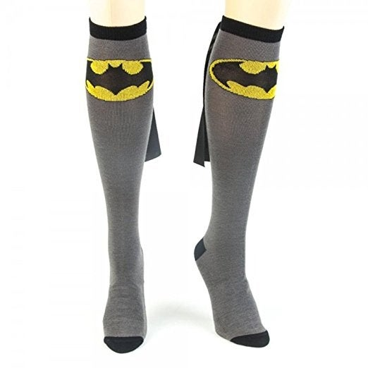 Bioworld DC Comics Batman Adult Knee High Caped Sock, One