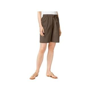 Karen Scott Womens Casual Shorts Bermuda Comfort Waist