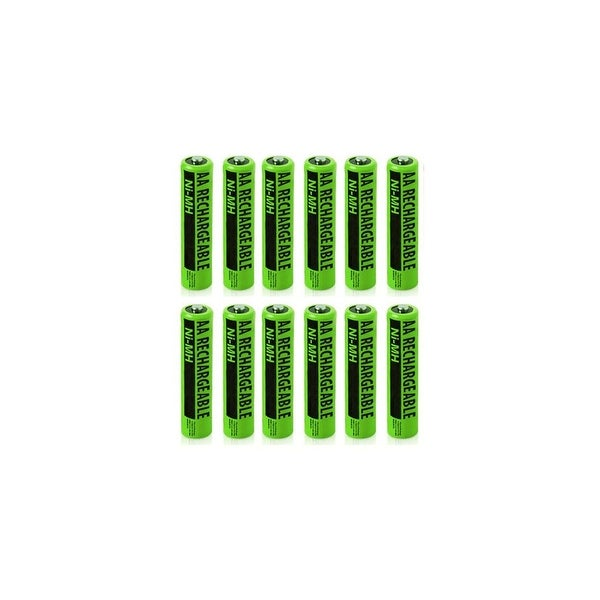 NiMh AA Batteries 12-Pack for GE/RCA NiMh AA Batteries 2-Pack