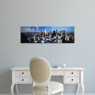 Easy Art Prints Panoramic Images's 'USA, California, Los Angeles, sunset' Premium Canvas Art