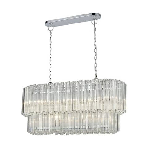 Apple Tree Village - Five Light Chandelier Polished Chrome Finish with Clear Glass