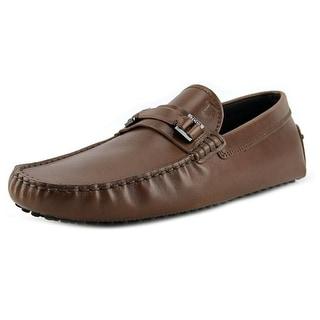 Tod's Mascherina Cinturino N.Gommini 122 Men Square Toe Leather Brown Loafer