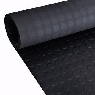 vidaXL Rubber Floor Mat Anti-Slip with Dots 16' x 3'
