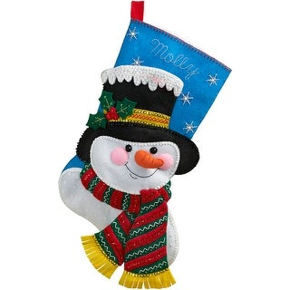 "Jack Frost Stocking Felt Applique Kit-18"" Long"