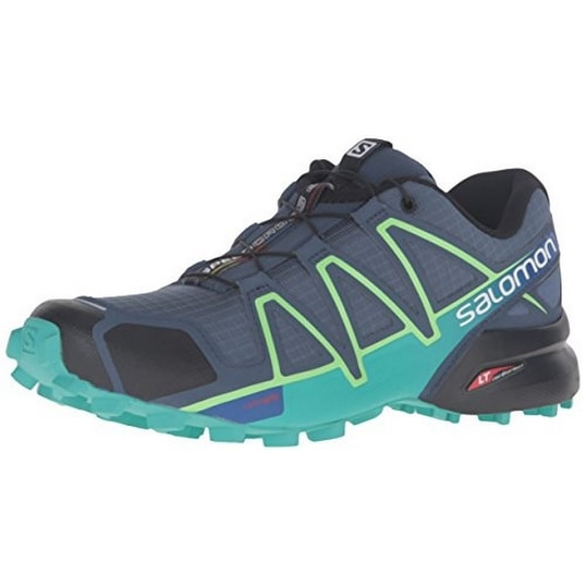 Salomon Womens SPEEDCROSS 4 W, Slateblue/Spa Blue/Fresh Green