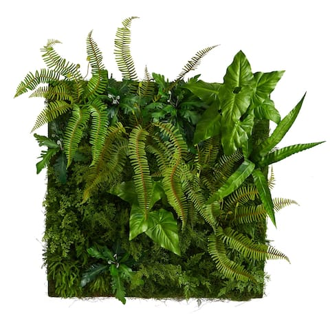 """40"""" x 40"""" Forest Artificial Living Wall - 5"""""""