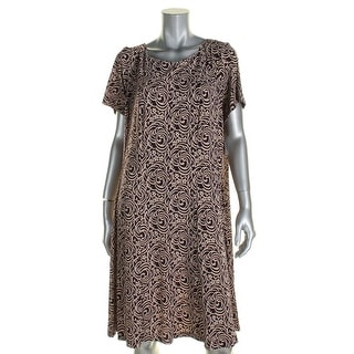 Connected Apparel Womens Casual Dress Printed Bateau Neck - 20W