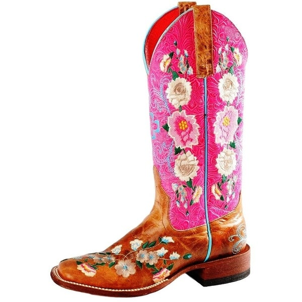 Macie Bean Western Boots Womens Can't Get Enough Floral Tan