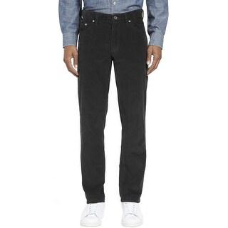 Kirkland Signature Standard Fit Corduroy Pants Dark Charcoal 36W x 30L - 36