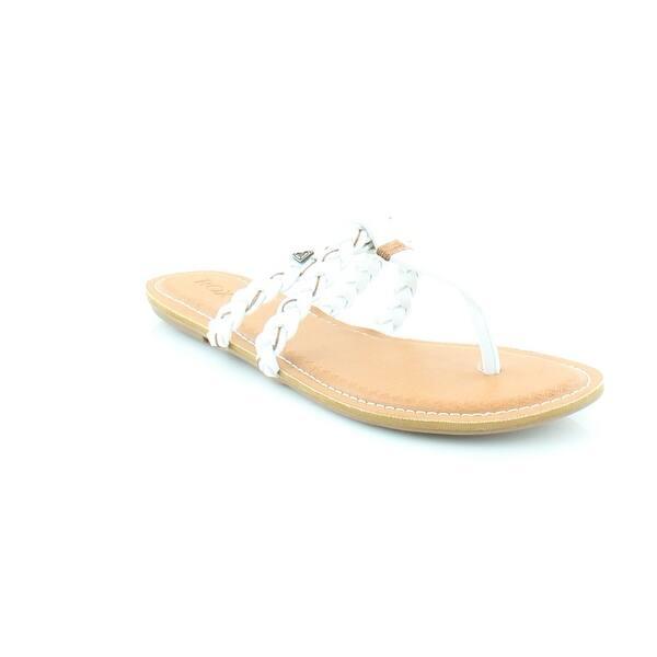 e32d1ced8769 Shop Roxy Giza Women s Sandals   Flip Flops White - Free Shipping On ...