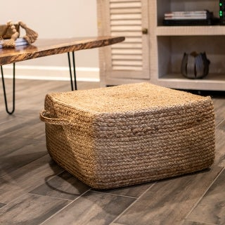 Link to The Gray Barn Juniper Hill Woven Square Pouf Similar Items in Living Room Furniture