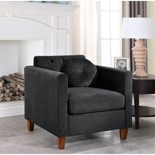 Link to Carson Carrington Paharova Velvet Kitts Classic Chair Similar Items in Living Room Chairs