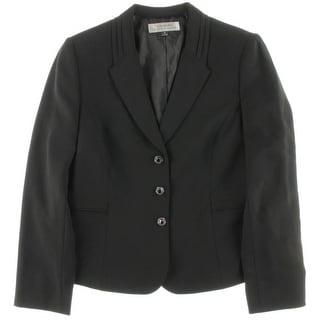 Tahari ASL Womens Larry 3 Button Solid Suit Jacket - 12