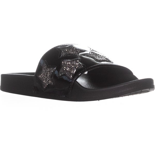 Kenneth Cole REACTION Pool Spash Stars Slide Sandals, Black