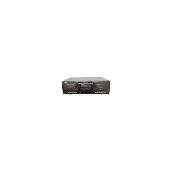 Pyle Audio PYRPT659DUB Pyle PT659DU Dual Stereo Cassette Deck with Tape USB to MP3 Converter