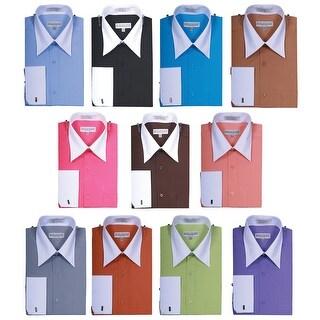 Men's Fashionable Two Tone French Cuff Shirt
