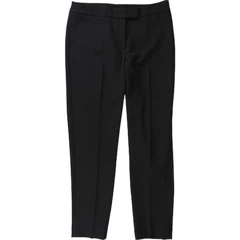 Anne Klein Womens Bowie Crepe Dress Pants, Black, 14