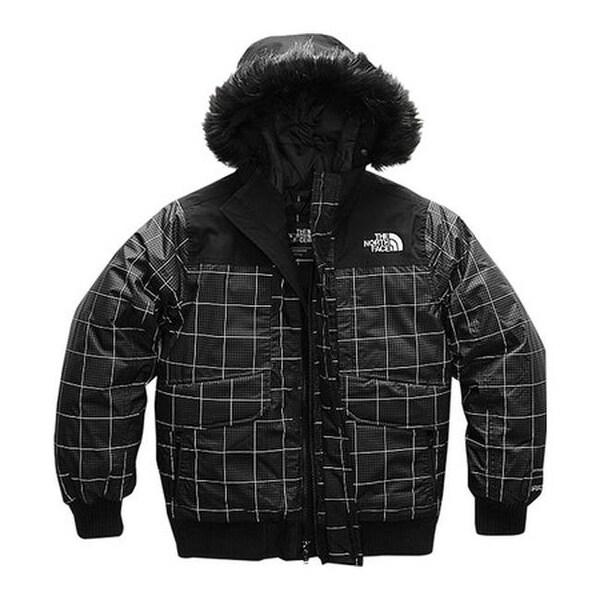 93336edb3 The North Face Boys' Gotham Down Jacket TNF Black Reflective Grid