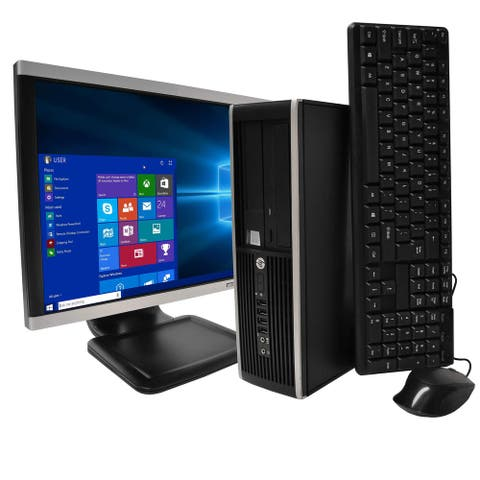 HP 8200 Intel i7 8GB 1TB HDD Windows 10 Home WiFi Desktop PC - Black