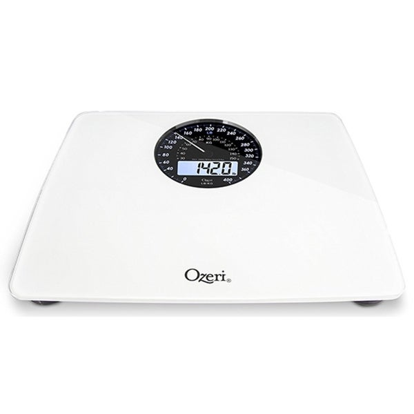 Ozeri Rev Digital Bathroom Scale With Electromechanical Weight Dial. Opens flyout.