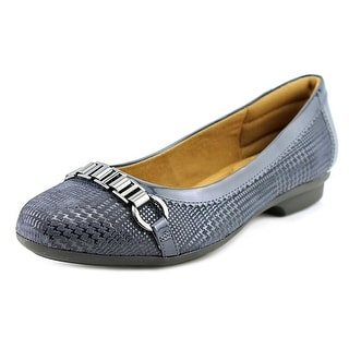 Comfortiva Madeira Women N/S Round Toe Leather Blue Flats