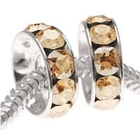 Swarovski Elements Crystal, 77512 BeCharmed Rondelle 4.5mm Large Hole Beads 12mm, 2 Pcs, Golden Shadow