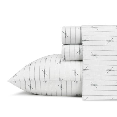 Eddie Bauer Printed Cotton Percale Deep Pocket Sheet Sets