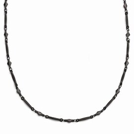Black IP Downton Abbey Necklace - 36in
