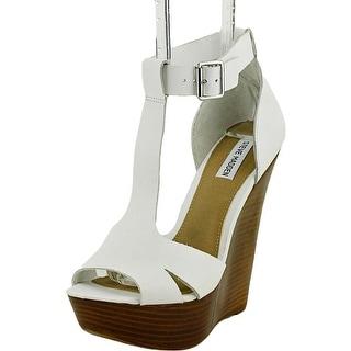 Steve Madden Brunni Women Open Toe Leather Wedge Heel