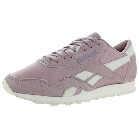 Reebok Womens Classic Nylon Sneakers Suede Fitness - Infused Lilac/Pale Pink