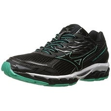 Mizuno Women's Wave Paradox 3 Running Shoe, Black-Electric Green, 11 D US