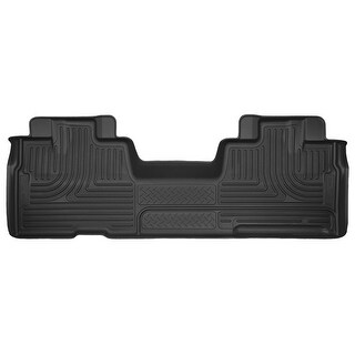 Husky X-act Contour 2009-2014 Ford F-150 SuperCab 2nd Row Black Rear Floor Mats/Liners
