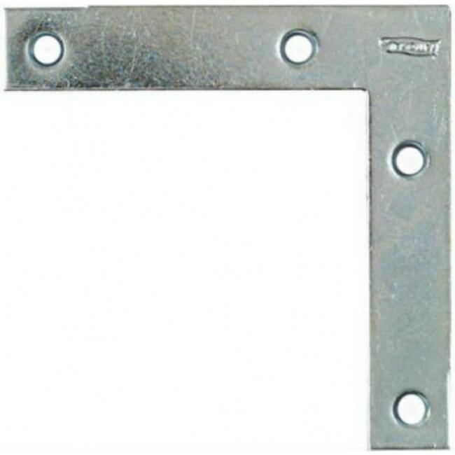 National Hardware N114-116 Flat Corner Braces with Screws, 4 x 3/4, 4-Pack