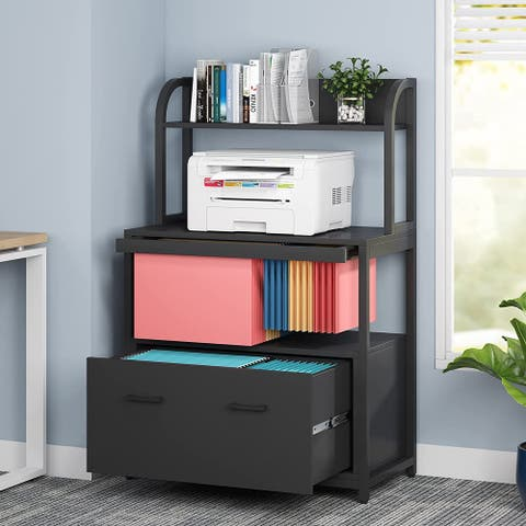 Lateral File Cabinet with Pull-out Hanging File Organizer and File Drawer System